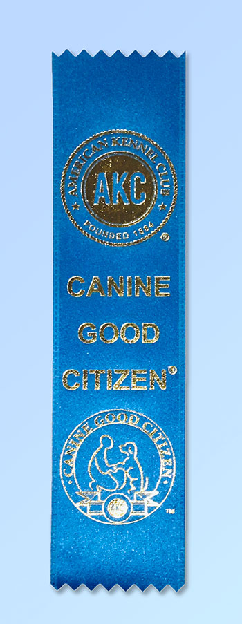 K9 Manners and More Canine Good Citizen Ribbon